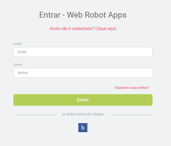 criação de aplicativo